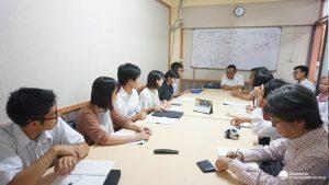 Gambar 4. Diskusi Mahasiwa Chuo dengan Satker PSPLP Jawa Barat terkait kebijakan